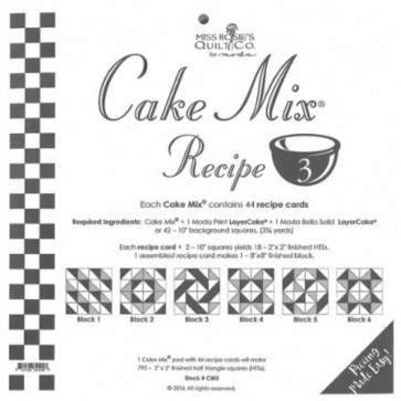 Cake Mix Recipe 3 by Miss Rosies Quilt Co
