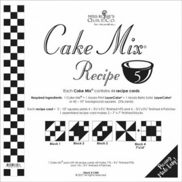 Cake Mix Recipe 5 by Miss Rosies Quilt Co