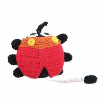 Crocheted Tape Measure Ladybug
