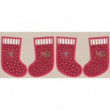 Lewis  Irene Christmas Panel Wine Countryside Stockings