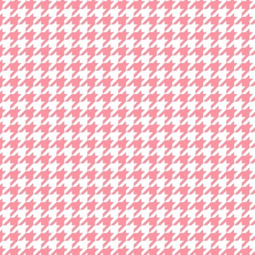 Lil Sprout Flannel Too WhitePink Houndstooth