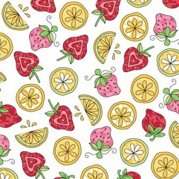 Lil Sprout Flannel Too White Strawberries n Lemons