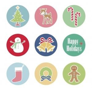Lori Holt Cozy Christmas Magnets Set of 9  ST-4816