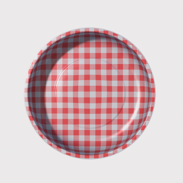 Magnetic Pin Bowl Gingham Red