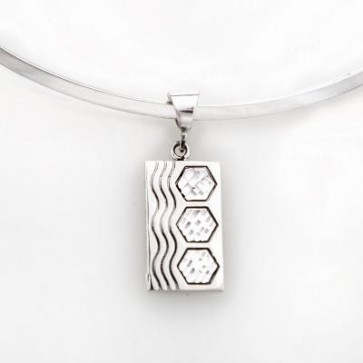 Sterling Silver Sexy Hexie Pendant- Medium