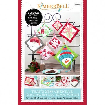 Thats Sew Chenille Christmas Hot Pads Sewing Version KD716