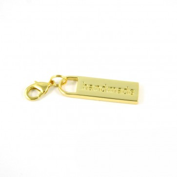 Zipper Pull Handmade in Gold Finish