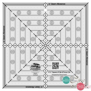 Creative Grids 8-12in Square It Up or Fussy Cut Square Quilt Ruler