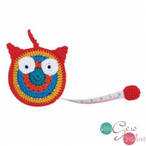 Crocheted Tape Measure Owl