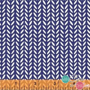 Flourish Herringbone Blue 43513-4