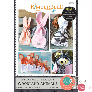 Kimberbell Its A Cinch Gift Bags V4 Woodland Animals KD554