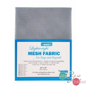 Lightweight Mesh Fabric Pewter 18 by 54  by Annie