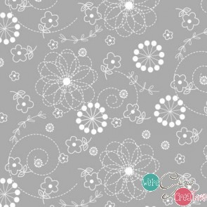 Little One Flannel Grey Doodle F8229-K