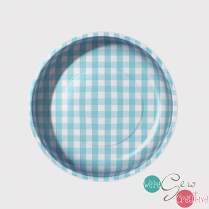 Magnetic Pin Bowl Gingham Aqua