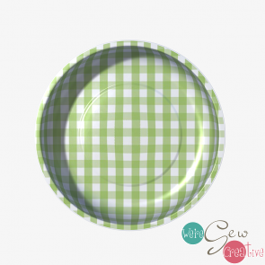 Magnetic Pin Bowl Gingham Green