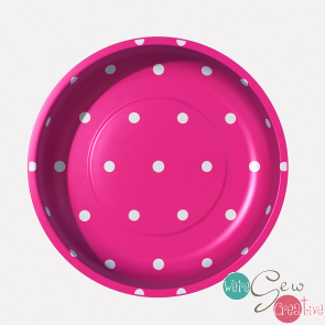 Magnetic Pin Bowl Polka Dot Hot Pink