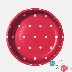 Magnetic Pin Bowl Polka Dot Red