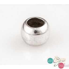 Sterling Silver 8mm OD 5mm ID Spacer Bead