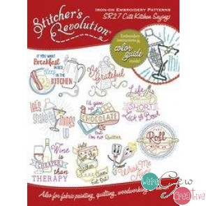 Stitchers Revolution SR27 Cute Kitchen Sayings Iron-On Embroidery Pattern