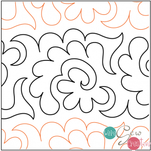 Tear Away Quilting Elementz Flowers and Fronds UTA-1006
