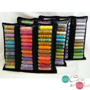 Thread Storage -Clear Six Pocket Zipper Pouch