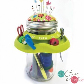 Tutu Mason Jar Caddy Green