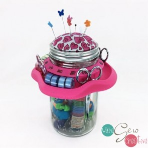 Tutu Mason Jar Caddy Pink