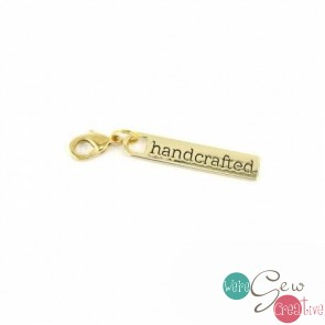 Zipper Pull Handcrafted in Gold Finish