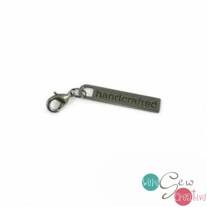 Zipper Pull Handcrafted in Gunmetal Finish