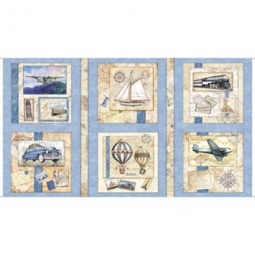 Wanderlust Picture Patches Light Blue