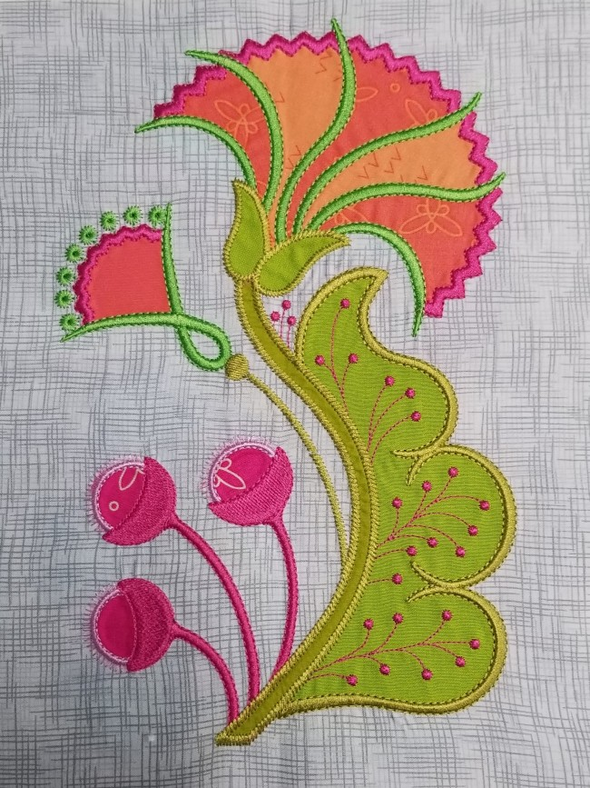 Flower Dance Machine Embroidery Applique Block Of The Month