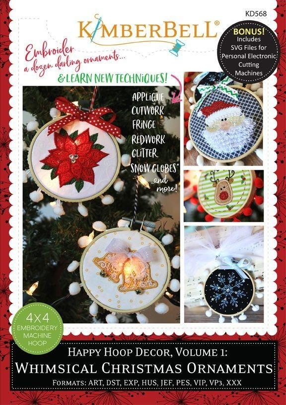 Whimsical Christmas Ornaments.Kimberbell Happy Hoop Decor Volume 1 Whimsical Christmas Ornaments Kd568
