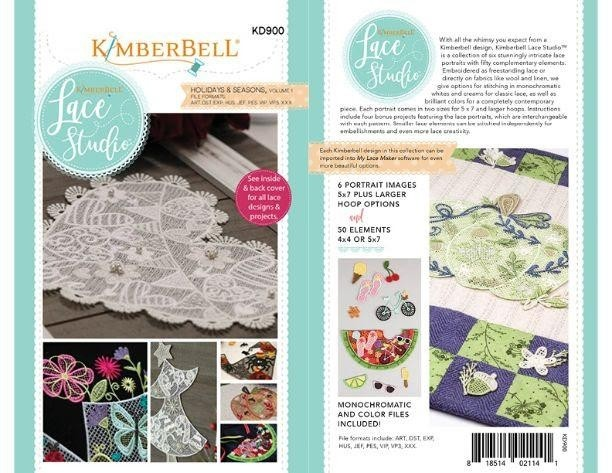 Used Embroidery Machines For Sale >> Kimberbell Lace Studio: Holidays & Seasons, Volume 1 KD 900