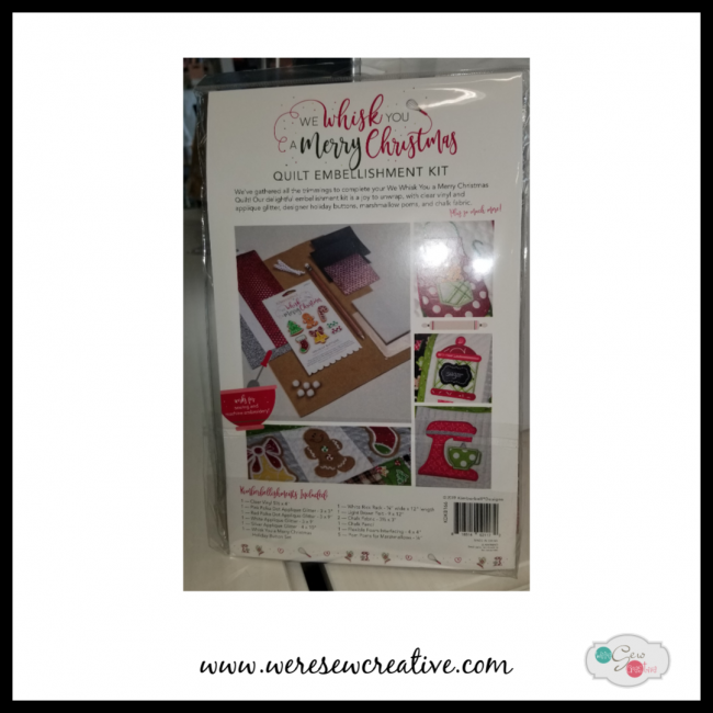 WE WHISK YOU A MERRY CHRISTMAS EMBELLISHMENT KIT by KIMBERBELL