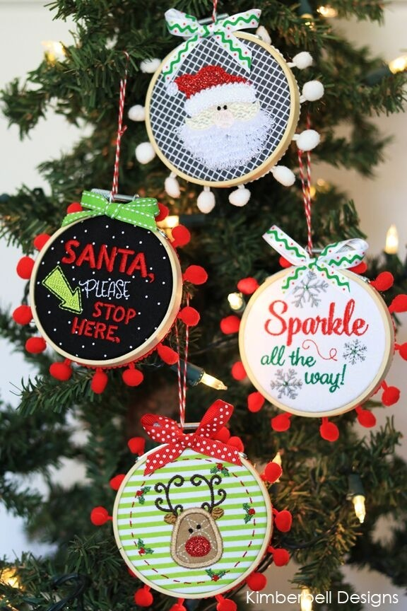 Kimberbell Happy Hoop Decor Volume 1 Whimsical Christmas Ornaments Kd568