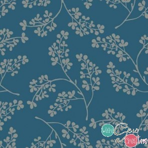 3 Wishes Farmhouse Blue Sprigs
