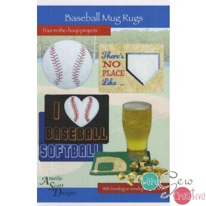 Baseball Mug Rugs- Four in the hoop projects