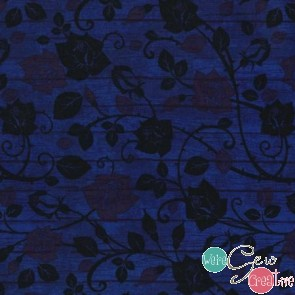 Bohemian Blues Floral on Wood Admiral JN-C5774