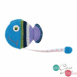 Crocheted Tape Measure Fish
