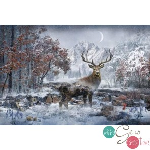 December Call of the Wild Digitally Printed Panel