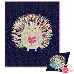 Elsie the Hedgehog Quilt and Pillow Kit
