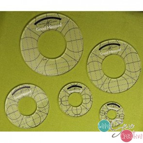 Good Measure Every Circle Template Set of 5 Longarm Quilting Templates