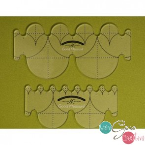Good Measure  Every Clamshell Template Set of 2 Longarm Quilting Templates