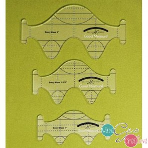 Good Measure Every Wave Set of 3 Longarm Quilting Templates