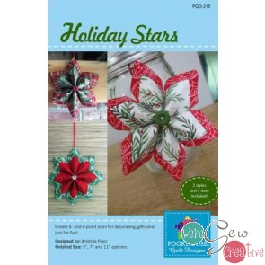 Holiday Stars by Poorhouse Quilt Designs