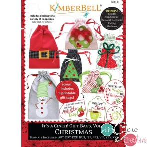Kimberbell Its a Cinch Gift  Bags Vol 2 Christmas Embroidery CD KD533