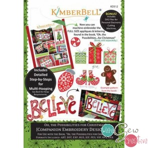Kimberbell Oh the Possibillities for Christmas a companion Embroidery Design CD