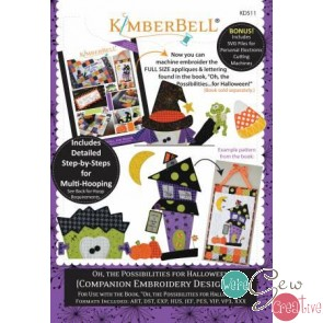 Kimberbell Oh the Possibillities for Halloween a companion Embroidery Design CD