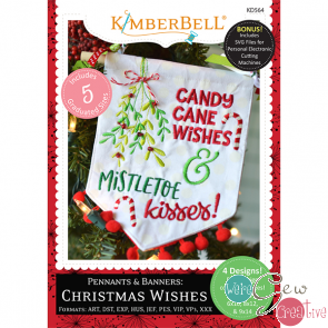 Kimberbell Pennants  Banners Christmas Wishes KD564