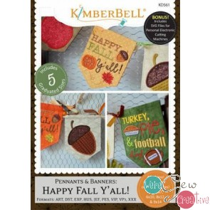 Kimberbell Pennants  Banners Happy Fall YAll  KD561